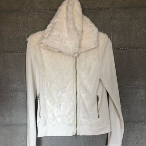Armani Exchange Faux Fur front sweater with hood
